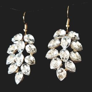 Pear Shaped Crystal Cluster Statement Errings